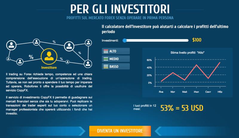 Roboforex per investitori