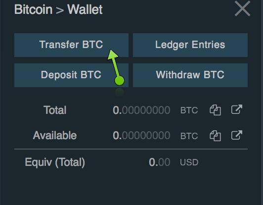 bitfinex trasferisci bitcoin
