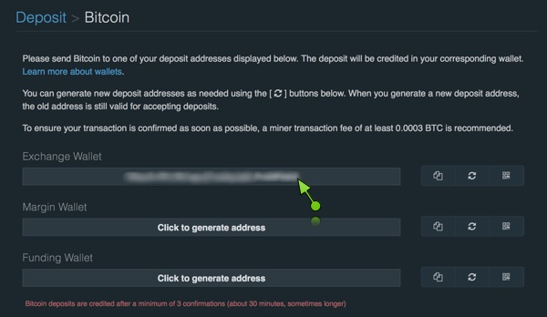 Depositare bitcoin su bitfinex