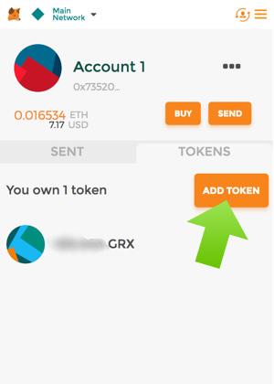 aggiungi token