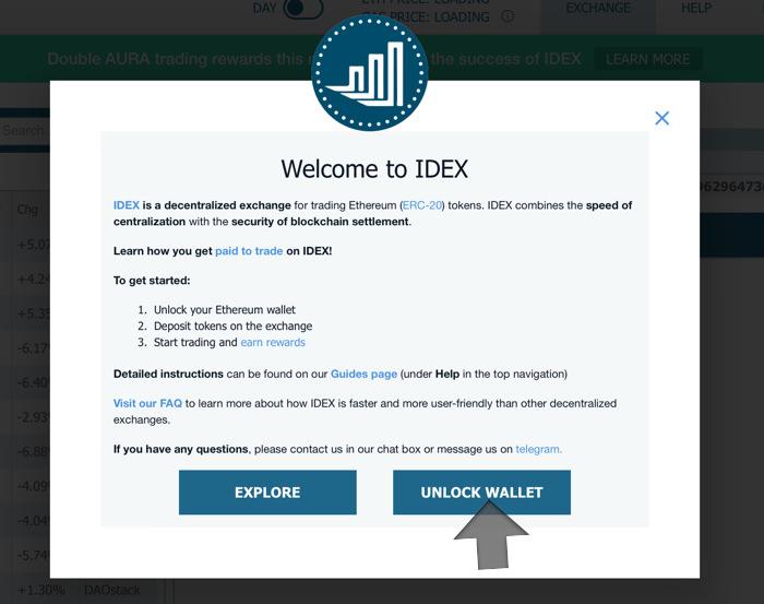 Unlock IDEX